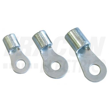 TRACON SZ4-6 Szigeteletlen szemes saru, ónozott elektrolitréz 4mm2, M6, (d1=3,4mm, d2=6,4mm)