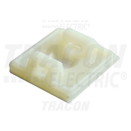 TRACON TALP190-2 Öntapadós/csavarozható, 2oldalt fűzhető kötegelő talp, natúr 18,7×18,7mm, d=4,4mm, PA6.6