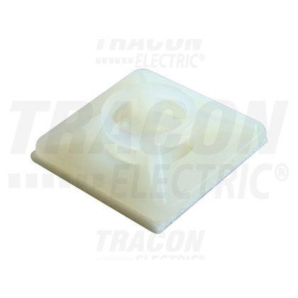 TRACON TALP270 Öntapadós/csavarozható, 4oldalt fűzhető kötegelő talp, natúr 25×25mm, d=3,5mm, PA6.6