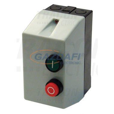 TRACON TEMS1-091 Tokozott motorvédő kombináció, kontaktor+hőrelé, műanyag ház 660V, 50Hz, 3,5A, 1,5kW, 400V AC, 2,5-4A