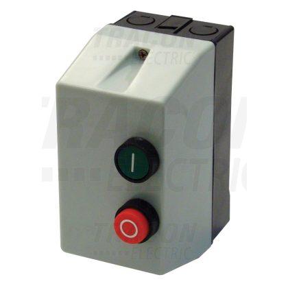 TRACON TEMS1-093 Tokozott motorvédő kombináció, kontaktor+hőrelé, műanyag ház 660V, 50Hz, 6,3A, 3kW, 400V AC, 5,5-8A