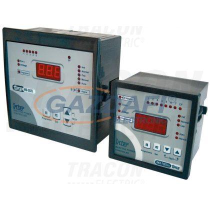 TRACON TFJA-06 Fázisjavító automatika, egyfázisú, 7 kondenzátor telephez 96×96mm
