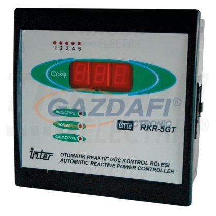TRACON TFJA-07 Fázisjavító automatika, egyfázisú, 5 kondenzátor telephez 144×144mm