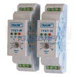 TRACON TFKV-10 Védőrelé, feszültségfigyelő 1 és 3 fázisra, beáll. késl. Umin=160V, 0-10s, 5A/250V AC