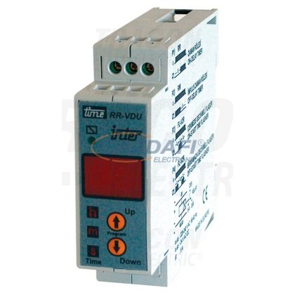 TRACON TIR-05 Digitális időrelé és ütemadó 230V AC/24V AC/DC, 0.01s-99min, 5A/250V AC