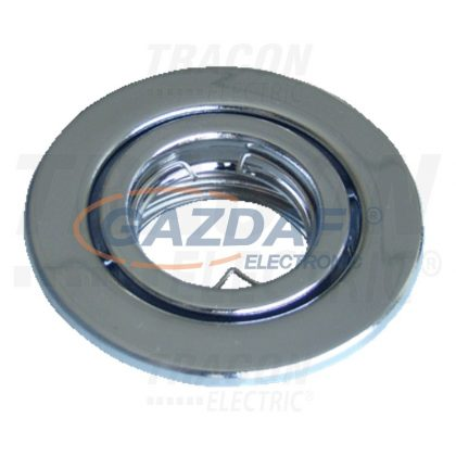 TRACON TLC-1C Beépíthető lámpatest spot fényforrásokhoz, króm max.35W, MR11, D=78mm, 30°, EEI=A++ - E