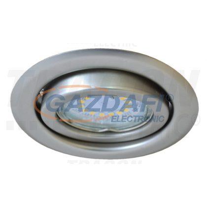 TRACON TLC-6MC Beépíthető lámpatest spot fényforrásokhoz, matt króm max.50W, MR16, D=97mm, 30°, EEI=A++ - E