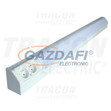 TRACON TLFL-30F Fénycsöves lámpatest dupla csapos dugaszolóaljzattal 230V, 50Hz, T8, G13, 30W, 10A, EEI=A