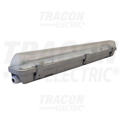 TRACON TLFV-118E Fénycsöves védett lámpatest elektronikus előtéttel 230V, 50Hz, T8, G13, 1×18 W, IP65, ABS/PC, A2, EEI=A