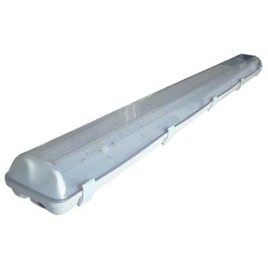 TRACON TLFVLED212 Védett lámpatest LED csövekhez, egyoldalas betáp 230 V, 50 Hz, G13, 1200 mm, IP65, ABS/PC, EEI=A++,A+,A