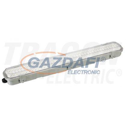TRACON TLFVLM18W Védett LED ipari lámpatest radaros mozgásérzékelővel 230VAC,18W,600mm,360°,IP65,1-8m,10s-12m,3-2000lx, EEI=A