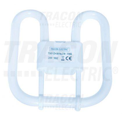 TRACON TLKF-2D-GR10Q-21W Kompakt fénycső 230V, 50Hz, 2D, 21W, Gr10q, 3500K, 1344lm, 8000h