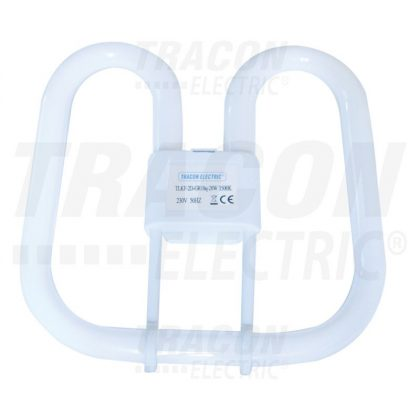 TRACON TLKF-2D-GR10Q-28W Kompakt fénycső 230V, 50Hz, 2D, 28W, Gr10q, 3500K, 2044lm, 8000h