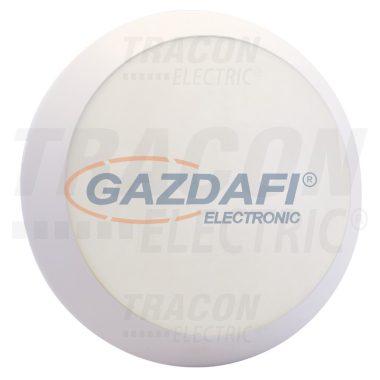 TRACON TLKVLED10NW Védett, kerek LED falilámpa, opál búra, fehér 230V, 50Hz, 12 W, 960 lm, IP54, EEI=A