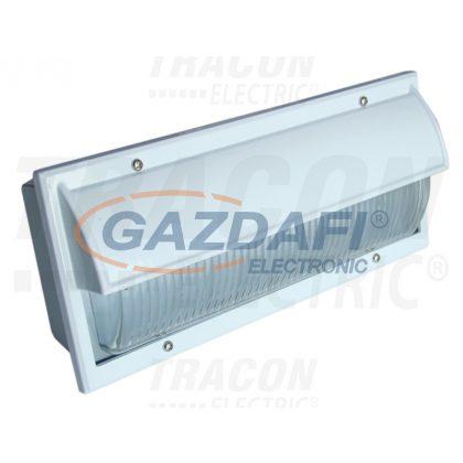 TRACON TLVS-03 Oldalfali járdavilágító lámpatest domború félig takart fehér 230V, 50Hz, E27, max.60W, IP54