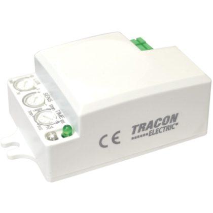 TRACON TMB-L01D Mozgásérzékelő, mikrohullámú, lámpába 230 VAC, 5,8 GHz, 360°, 1-6 m, 10 s-12 min, 3-2000lux
