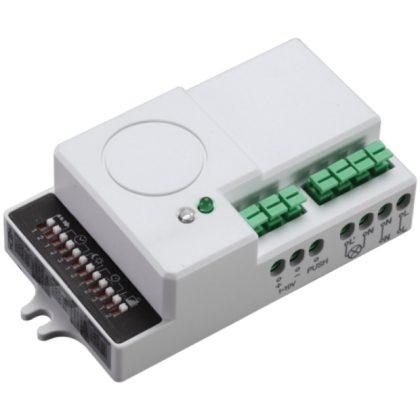 TRACON TMB-L01DIMM Mozgásérzékelő, radaros, lámpatestekbe,szabályozható fényerő 230 VAC, 5,8 GHz, 360°, 2-8 m, 5 s-30 min, 2-2000lux
