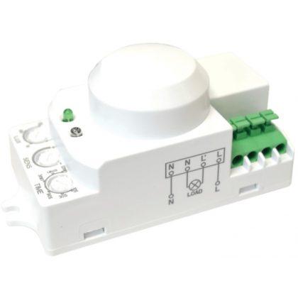TRACON TMB-L01G Mozgásérzékelő, mikrohullámú, lámpába 230 VAC, 5,8 GHz, 360°, 1-8 m, 10 s-12 min, 3-2000lux