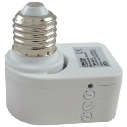 TRACON TMB-ME51 Mozgásérzékelő adapter, mikrohullámú E27, foglalatba 230 VAC, 5,8 GHz, 360°, 1-5 m, 10 s-12 min, 3-2000 lux