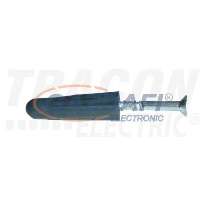 TRACON TNCS10 Négyszögletes tipli+csavar, sötétszürke M10×42, PE