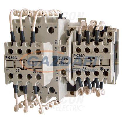 TRACON TR1C1701B Kontaktor kondenzátortelepek kapcsolásához 690V, 50Hz, 17A, 12,5kVAr, 400V AC, 3×NO+1×NO