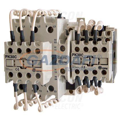 TRACON TR1C6511B Kontaktor kondenzátortelepek kapcsolásához 690V, 50Hz, 65A, 50kVAr, 400V AC, 3×NO+(1×NO+1×NC)