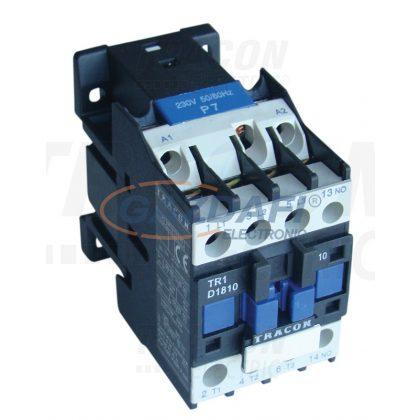 TRACON TR1D2501F7 Kontaktor 660V, 50Hz, 25A, 11kW, 110V AC, 3×NO+1×NC