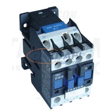 TRACON TR1D2510F7 Kontaktor 660V, 50Hz, 25A, 11kW, 110V AC, 3×NO+1×NO