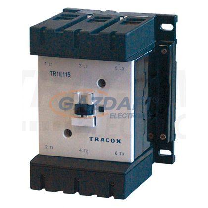TRACON TR1E115V7 Nagyáramú kontaktor 660V, 50Hz, 115A, 55kW, 400V AC, 3×NO