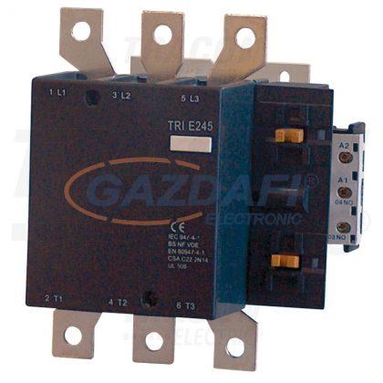 TRACON TR1E245B7 Nagyáramú kontaktor 660V, 50Hz, 245A, 132kW, 24V AC, 3×NO+1×NO