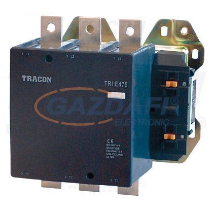 TRACON TR1E475B7 Nagyáramú kontaktor 660V, 50Hz, 475A, 250kW, 24V AC, 3×NO+1×NO