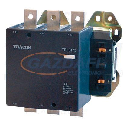 TRACON TR1E475V7 Nagyáramú kontaktor 660V, 50Hz, 475A, 250kW, 400V AC, 3×NO+1×NO