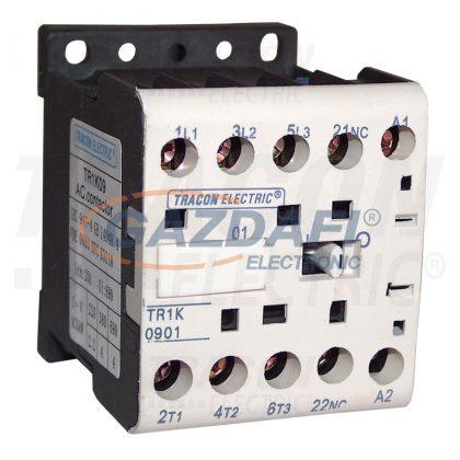 TRACON TR1K1210F7 Segédkontaktor 660V, 50Hz, 12A, 5,5kW, 110V AC, 3×NO+1×NO