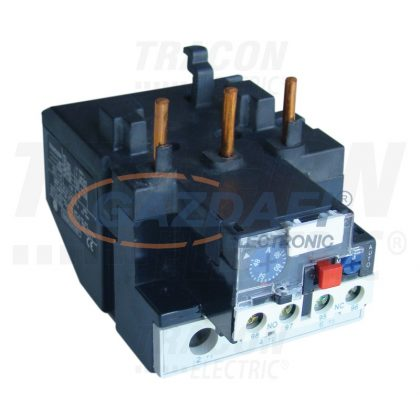 TRACON TR2HF1314 Termikus túláramvédelmi relé TR1F segédkontaktorokhoz 690V, 0-400Hz, 7-10A, 1×NC+1×NO