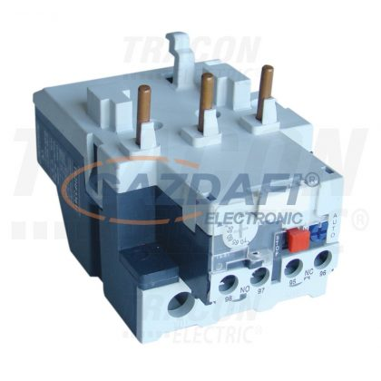 TRACON TR2HF3365 Termikus túláramvédelmi relé TR1F segédkontaktorokhoz 690V, 0-400Hz, 80-93A, 1×NC+1×NO