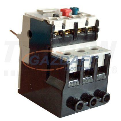 TRACON TR2HK0304 Termikus túláramvédelmi relé TR1K segédkontaktorokhoz 690V, 0-400Hz, 0,4-0,63A, 1×NC+1×NO