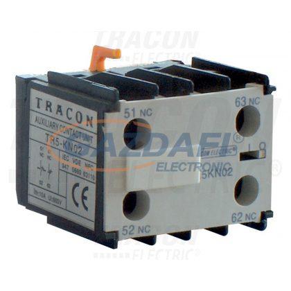 TRACON TR5KN04 Homlokoldali segédérintkező TR1K segédkontaktorokhoz 230V, 50Hz, 2A, 4×NC