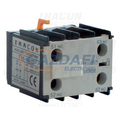 TRACON TR5KN40 Homlokoldali segédérintkező TR1K segédkontaktorokhoz 230V, 50Hz, 2A, 4×NO
