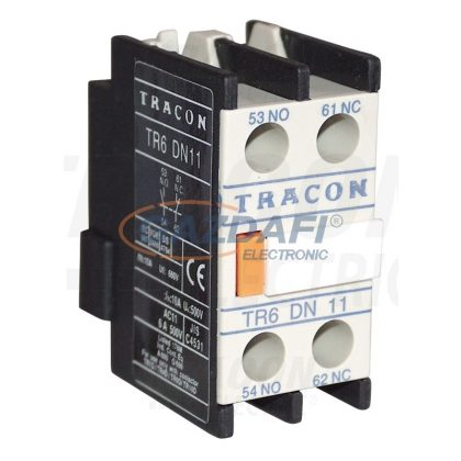 TRACON TR6DN11 Homlokoldali segédérintkező TR1D/F és TR1E kontaktorokhoz 230V, 50Hz, 2A, 1×NC+1×NO