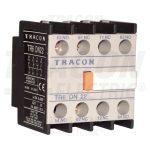 TRACON TR6DN22 Homlokoldali segédérintkező TR1D/F és TR1E kontaktorokhoz 230V, 50Hz, 2A, 2×NC+2×NO