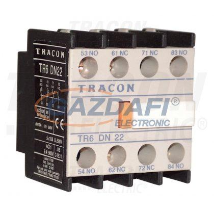 TRACON TR6DN31 Homlokoldali segédérintkező TR1D/F és TR1E kontaktorokhoz 230V, 50Hz, 2A, 1×NC+3×NO