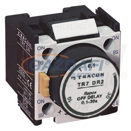 TRACON TR7DR2 Időzítő egység TR1D/F kontaktorokhoz,elengedés-késleltetéses 0,1-30sec, 1×NC+1×NO