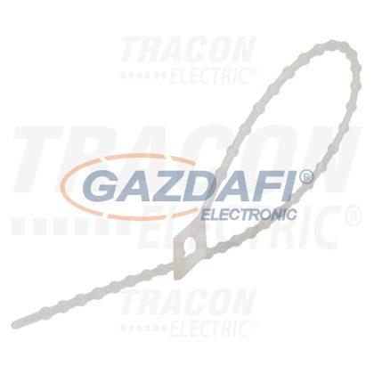 TRACON 160N-GY Gyöngyös nyitható kábelkötegelő, natúr 150mm, Dmax=36, PA6.6