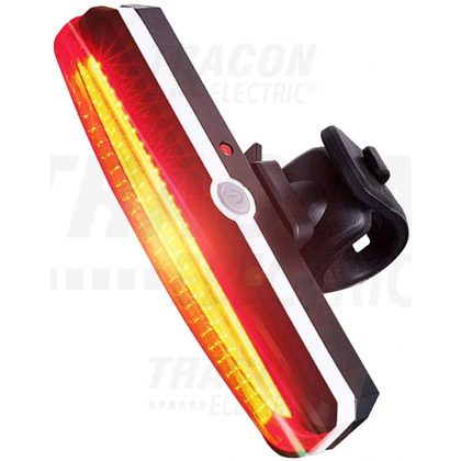 TRACON BLCH1,5W Akkumulátoros LED bicikli lámpa, hátsó, piros 1,5 W,  3.7V 500 mAh, 100 lm, 2 h, IP65