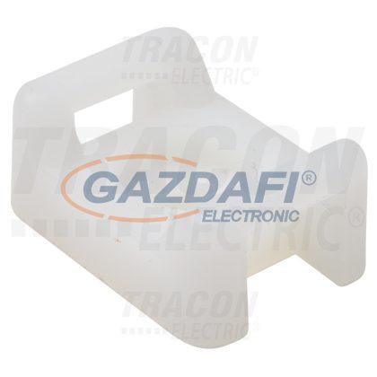 TRACON CSTALP-6 Csavarozható, 2oldalt fűzhetőkábelkötegelő talp, natúr 26×16mm, d=10mm, PA6.6