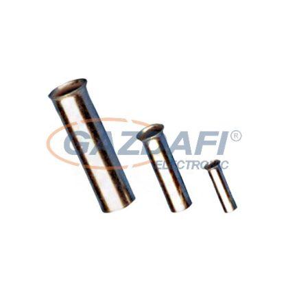 TRACON E10N Szigeteletlen érvéghüvely, ónozott elektrolitréz25mm2, L=16mm