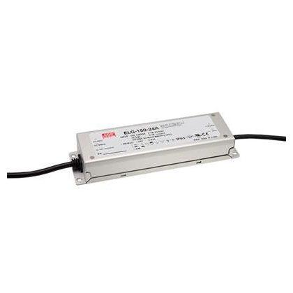 TRACON ELG-150-24A-3Y Professzionális fém házas LEDmeghajtó 100-305 VAC / 24 VDC; 150 W; 0-6,25 A; PFC; IP65
