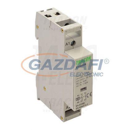 TRACON EVOHK2-25 Installációs kontaktor230V, 50Hz, 1 Mod, 2×NO, AC1/AC7a, 25A,