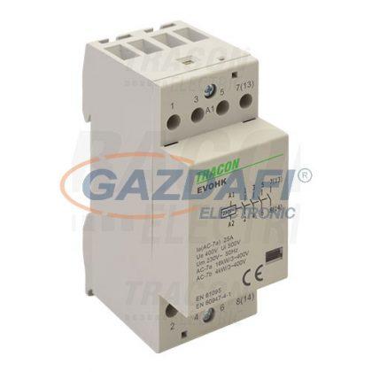 TRACON EVOHK4-25 Installációs kontaktor230V, 50Hz, 2 Mod, 4×NO, AC1/AC7a, 25A,