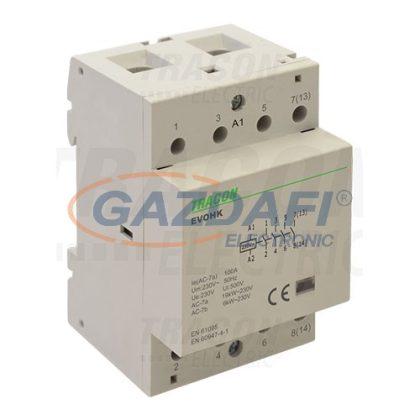 TRACON EVOHK4-63 Installációs kontaktor230V, 50Hz, 3 Mod, 4×NO, AC1/AC7a, 63A,